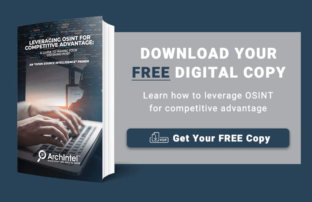 Archintel Leveraging OSINT for Competitive Intelligence e-Book